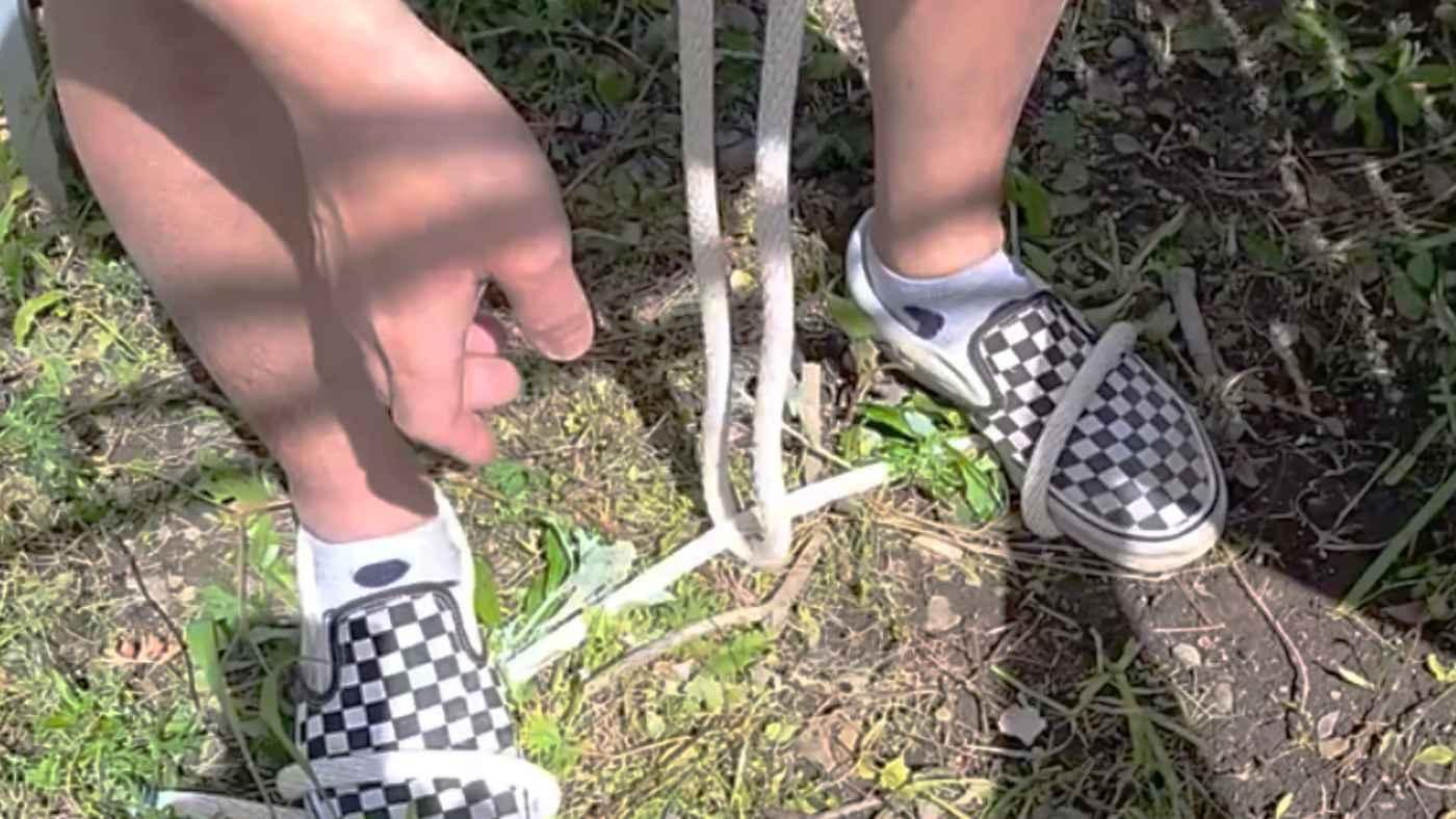 太いロープを道具なしで切る裏技【ライフハック】