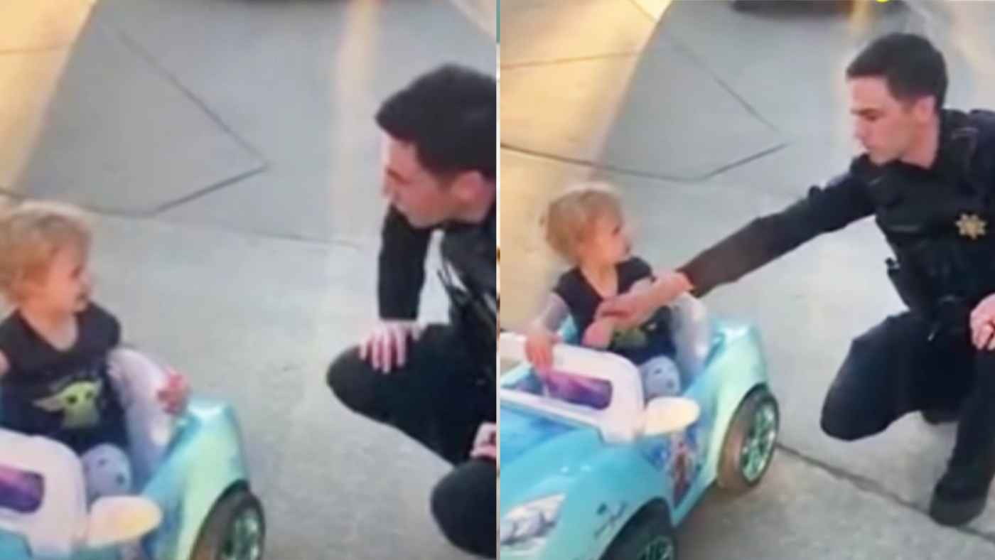 【神対応】職務質問された3歳の女の子と警察官のやりとりが癒されると話題に!