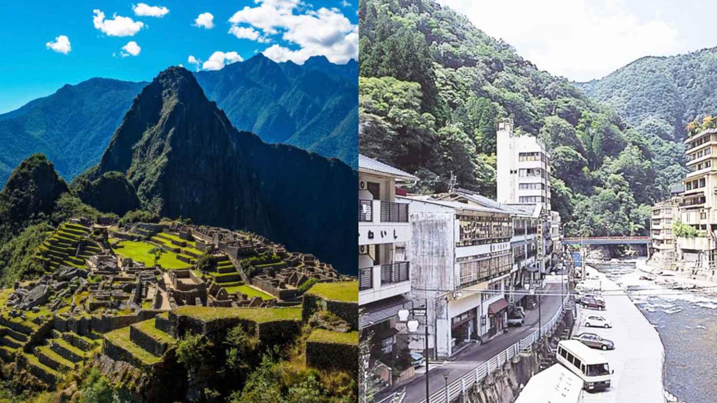 「天空遺跡」で有名なマチュピチュ村が日本の温泉街にしか見えないと話題に!