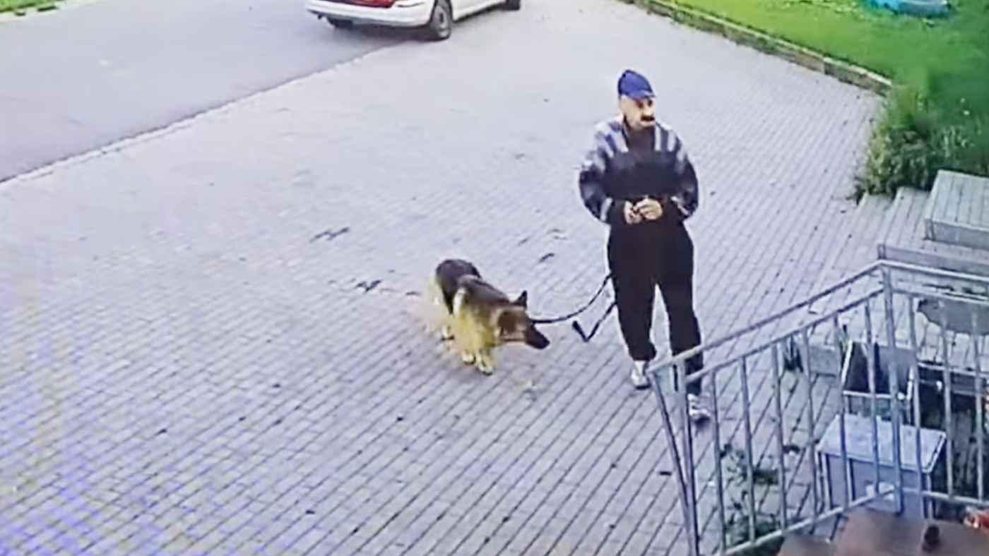 「一緒に帰りたいよ」飼い犬を酷い方法で置き去りにする飼い主が撮影される!