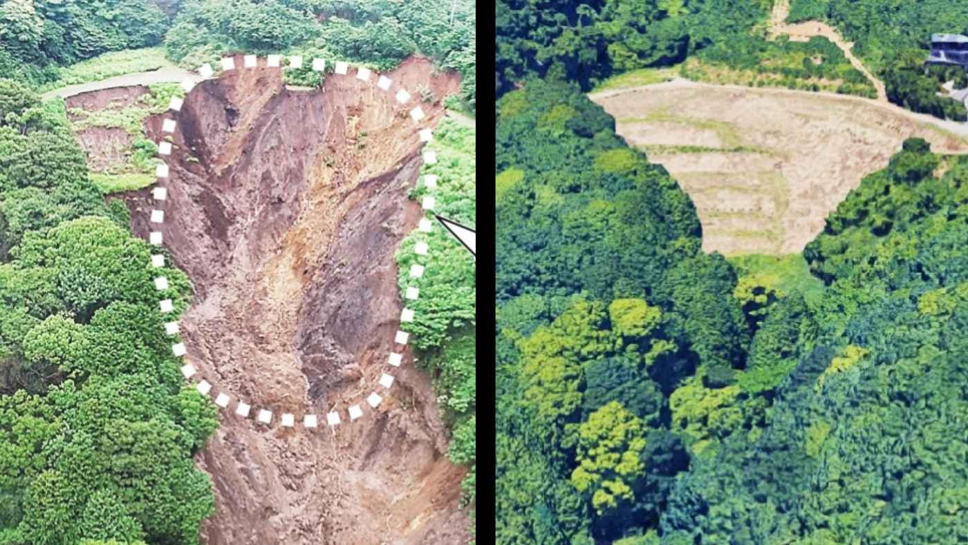 【熱海】土石流の崩壊起点に「盛り土」!宅地開発が原因ではないかと県が調査開始!