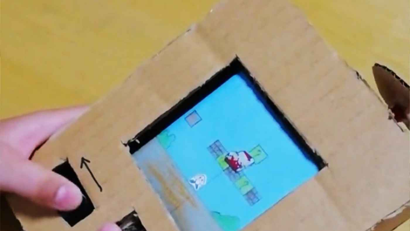 天才!小学生の息子さんが段ボールで作った「ゲームボーイ」のクオリティがすごいと話題に!