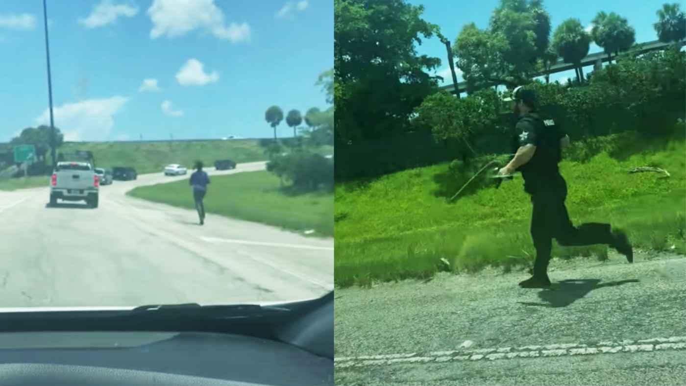 【神対応】犯人に逃げられそうな警官。それを見たトラックドライバーの粋な対応がかっこいいと話題に!