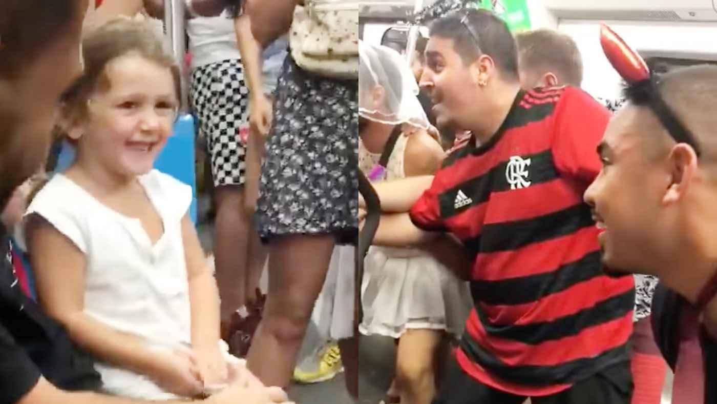 【神対応】電車内で泣いてしまった女の子。乗客たちの素敵すぎる行動で笑顔になる動画が話題に!